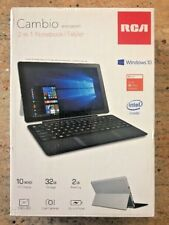 "Laptop/Tablet Combo 10"" - 2 in 1 RCA Cambio 32GB Notebook Windows 10 TouchScreen"