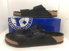 BIRKENSTOCK Mens Arizona Fur Black Suede Sandals Shoes Sz 11 EU44 ZB6-1260