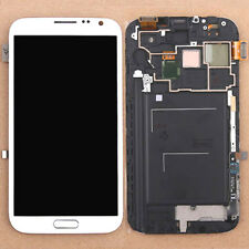 LCD Touch Screen Digitizer Frame Assembly For Samsung Galaxy Note 2 N7100 White