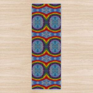 Infinite Rainbows Yoga Mat. High Quality UK Design Padded, Non-Slip, rubber base