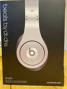 BEATS By Dr. Dre MONSTER Silver Studio On-Ear Headphones. NO RESERVE