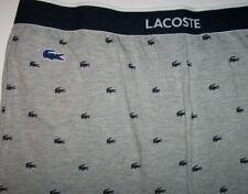 NWT Lacoste Gray/Navy CROCODILE LOGO Jersey Knit Pajama/Lounge/Jogger Pants S