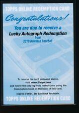 PETE ALONSO AUTO 2019 Bowman Chrome LUCKY AUTOGRAPH REDEMPTION #/99 Mets RC ROY?
