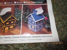 Kelly's Blue Tissue House Plastic Canvas Needlepoint Needlecraft Kit #1705
