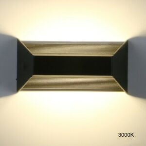 Modern Aluminium Sconce Outdoor IP65 8W Up Down LED Wall Lamp Home Hotel Lights