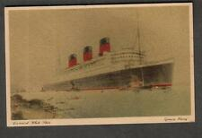 unmailed post card Cunard White Star Line ship Queen Mary