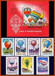 HUNGARY 1983 HOT AIR BALLOONS + S/S MNH AVIATION