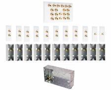 9.2 Slimline Speaker Audio Wall Face Plate kit + Back Boxes - AV - NO SOLDERING
