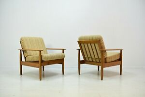 2 Easy Chair 60er Mid Century Vintage Danish Design Sessel Zu Teak