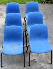 Deco indus, Vintage,  lot 6 chaises enfants années 50 Made In France Grosfillex