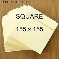 SQUARE 100gsm IVORY ENVELOPES CARDS PAPER INVITATIONS WEDDING SMALL CRAFT MAKING
