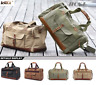 Large Mens Vintage Duffle Luggage Weekend Gym Overnight Travel Bag CanvasLeather