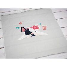 Tissu panneau chien/Bandeau Imprimé Numérique Sweat Jersey Baby Girl 49x55 cm