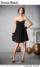 Boobtube Cocktail Two Layers Semi Sheer Party Evening Little Black Dress 6277