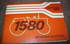 Fiat 1580 Schlepper Betriebsanleitung Original