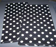 Black Polka Dots Cotton Fabric Kitchen Tea Towel Set NEW