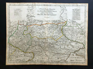 053 Antique Original 1674 map of Ukraine, Land of Cossacks Guillaume Sanson RARE