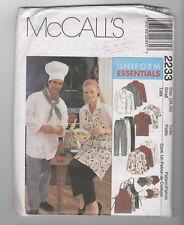 McCALLS  pattern 2233 chef's uniform UNISEX Sz Small uncut unused jacket toque