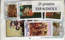 PEINTRES ESPAGNOLS 25 timbres différents