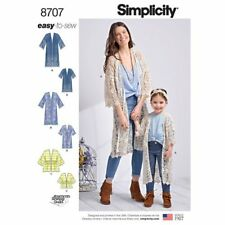 bd6c20ce8ca Simplicity Sewing Pattern 8707 Childs 3-8 and Misses 6-24 Kimonos Tops  Jackets