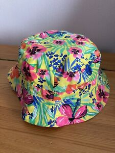 GIRLS SUN HAT/PULL ON/ FLOWER/FISHERMAN/AGE 1 TO 3 YEARS