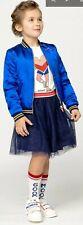 £85* ⭐Billieblush Bomber REVERSIBLE Jacket 2Y Baby Girl Wonder Blue Gold Star