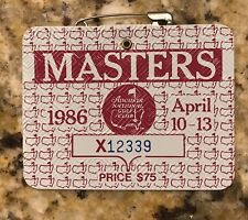 1986 MASTERS GOLF AUGUSTA NATIONAL BADGE TICKET JACK NICKLAUS WINS RARE