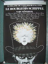 belle affiche théatre atelier bourgeois Schipel Bruxelles Jacques Richez 1980