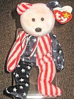 Ty Beanie Babies Original Spangle Patriotic Pink Face P E Pellets 1999 Errors