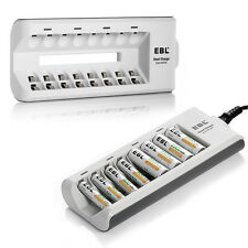 EBL Universal 8Slots Smart Charger For AA AAA Ni-MH Ni-CD Rechargeable Batteries