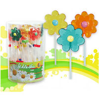 Lollipops Gänseblümchen 50 Stück Lutscher Lollies  Dauerlutscher am Stiel
