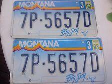 Set of Montana Rainbow License Plates 7P-5657D / Man Cave / Bar