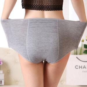 2XL-4XL Plus Size Women Underwear Period Panty health leak proof Briefs knicker