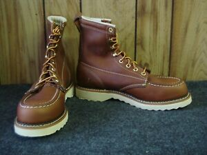 """SALE! - Factory Seconds Thorogood 8"""" Moc Toe Wedge Boots - 814-4080 - Size 7.5 D"""