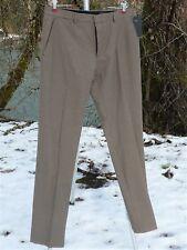 "BROWN DRESS PANTS 37""X 34 1/2"" SLIM ORGANIC COTTON HOUNDSTOOTH HIGH RISE NWT"