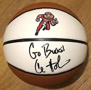 Chris Holtmann Signed Autographed Ohio State Buckeyes Logo Basketball Psa/Dna