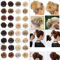 Large Hair Scrunchie Wrap Wavy Or Curly Messy Bun Updo Natural Various koko