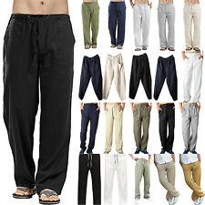 Men's Casual Summer Comfy Baggy Harem Pants Beach Yoga Loose Trousers Bottoms AU