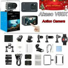 AKASO V50X Native 4K/30fps WiFi Action Camera Touch Screen Detachable Camcorder