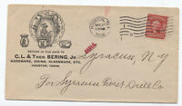 1906 Houston TX ad cover china C.L. & Theo Bering Jr. [JP.149]
