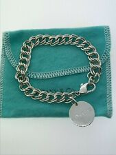 Vintage Tiffany & Co. Sterling Silver Double Chain Link Lancome Charm Bracelet