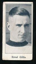 1924-26 V128 Paulin's Candy #4 ERROL GILLIS (Selkirk Fishermen-MSHL)