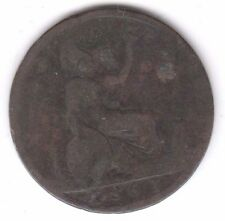 1861 Half Penny Young Head Queen Victoria