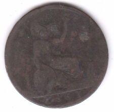 1861 Half Penny Young Head Queen Victoria