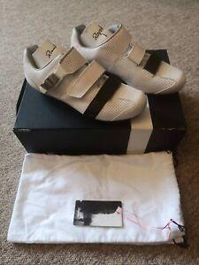 Rapha GT Grand Tour Shoes White Black Leather - Size UK 9 EU 44 - New Boxed