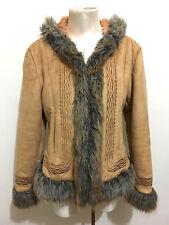 CULT VINTAGE AÑOS 70 Chaqueta Abrigo de piel Eco Mujer étnico Etnic Woman Jacket