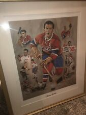 """Maurice Richard Signed """"Michel Lapensee Artist"""" Lim. Edition Lithograph """"Framed"""""""