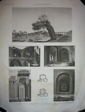 Eau-forte et burin XIXe, Reville, Alexandrie, Pl 91, Description de l'Egypte