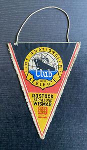 Alter Wimpel Internationaler Club der Seeleute Rostock - Stralsund - Wismar FDGB