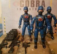 GI JOE ~ 2004 COBRA SQUAD LEADER & 2 INFANTRY TROOPERS ~  INFANTRY DIVISION